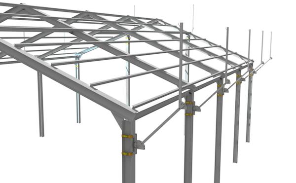 Estructura metalica cubierta great cubierta realizada en albacete con panel sandwidch y en una - Estructura metalica cubierta ...